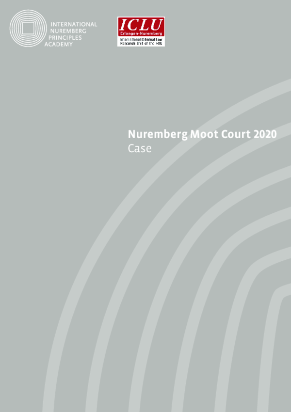 The Case of the Nuremberg Moot Court 2020