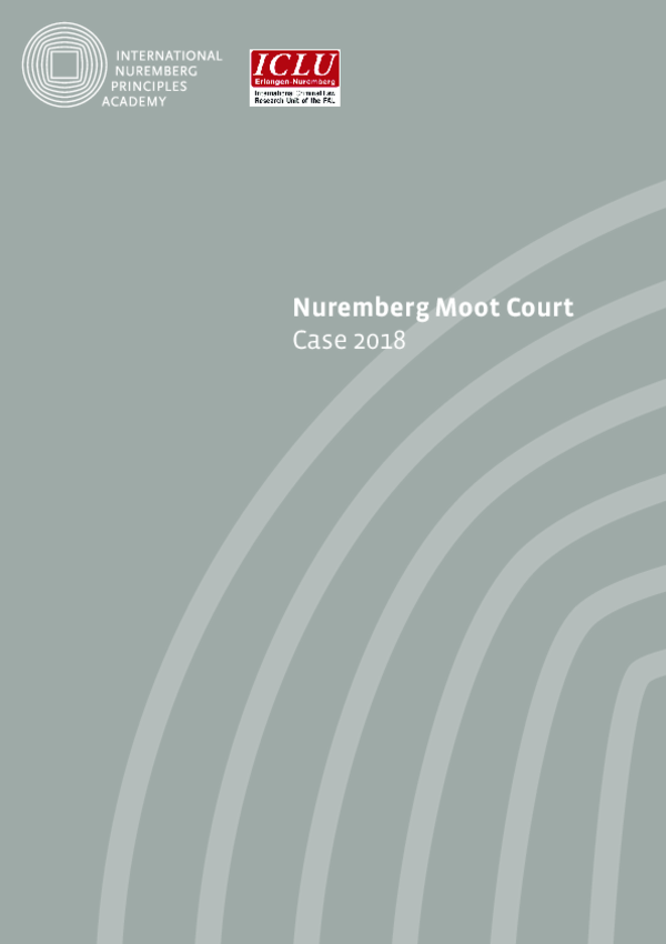 The Case of the Nuremberg Moot Court 2018